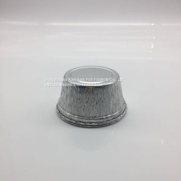 100ml Disposable Mini aluminum round container with lid