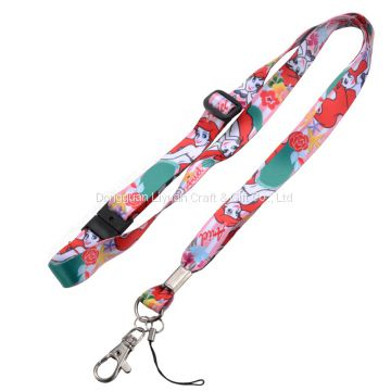 Custom Sublimation Printing Polyester ID Badge Neck Lanyard No Minimum Order Quantity