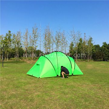 4 man camping tent 2 room 1 hall family tents outdoor equipment