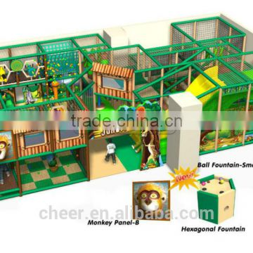 Cheer Amusement Jungle Themed Children Amusement Park used Indoor Playground Equipment for sales