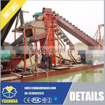 dredger water excavator chain bucket dredger