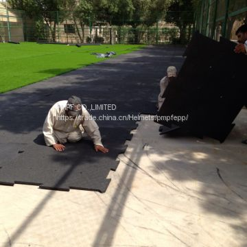 playground foam shock absorber padding underlay for football/soccer artificial grass synthetic turf surfaces