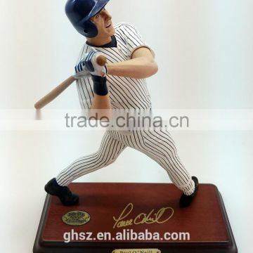 Custom resin bust baseball player figurine