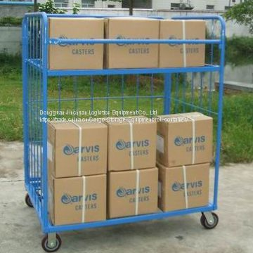 Powder Coated Steel Wire Mesh Container With Logo Printing
