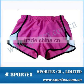 2015 New Design High Fashion Customized Pink/ White Women's Short Pants #MZ0001