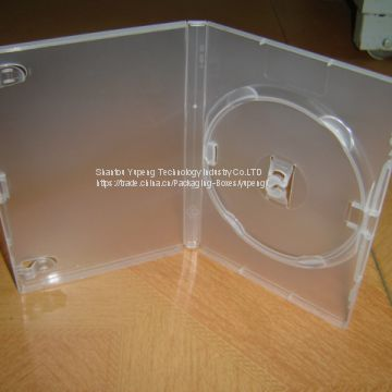 14mm clear double Rectange dvd case clear dvd box clear dvd cover clear(YP-D802Y)