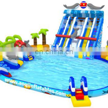 2015 new design jumbo inflatable water park from professional manufacturer