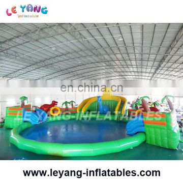 Dinosaur era Big size outdoor playground equipment Water slide toys for Kids and Adults