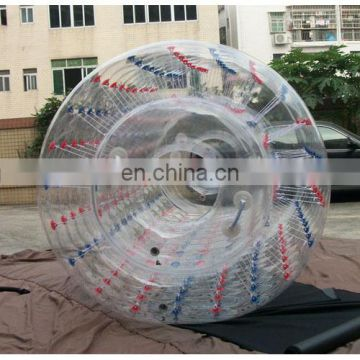 Inflatable water roller, inflatable rolling cylinder, inflatable water games