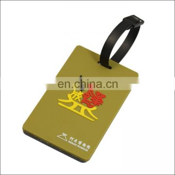 customized pvc plastic luggage tag
