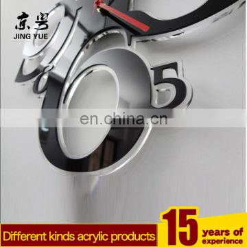 Customized Wall Mounted Records Wall Clock Math Themes black Acrylic Wall Clock for Home Decoration