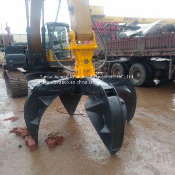 Heavy Duty Hydraulic Excavator Rotating Orange Peel Grab