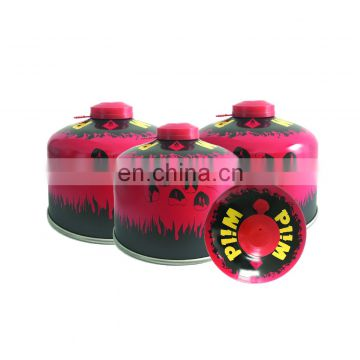 disposable SCREW VALVE  BUTANE GAS CARTRIDGE and butane canister230g