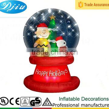 DJ-B-109 outdoor large wholesale clear plastic christmas ball ornaments deer decor