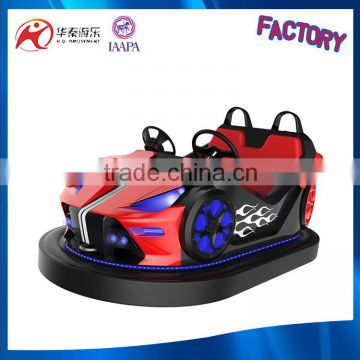 2016 crazy sale amusement 2seats bumper car with music and laser fighting mode for playground