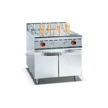 Factory price gas commercial pasta cooker with cabinet for resturant and hotel
