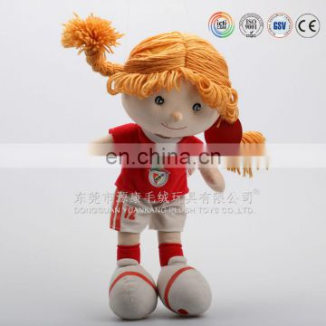 Wholesale Stuffed Yarn Hair Cloth Rag Doll