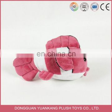 Promotional high quality stuffed goldfish soft plush fish toy