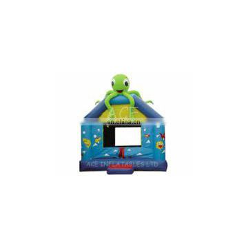 jelly fish theme inflatable bouncer,customized with best quality,jumping castle with changeable colors and themes