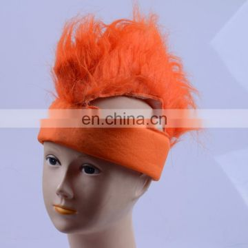 2018 new Nederland football fans wig orange mohawk wig sport fan hat