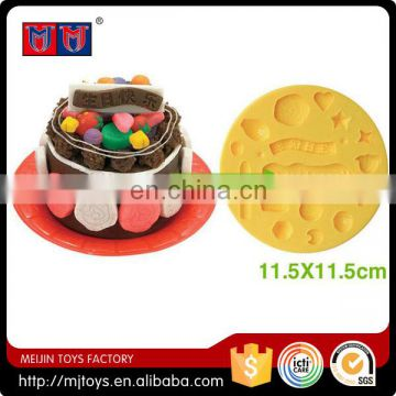 Colorful dough Eco-frindly material handmade cute mould birthday cake mini food toy for kids