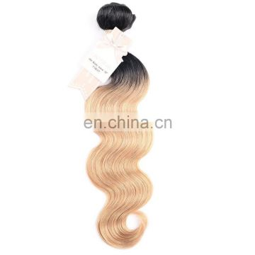 100% human hair ombre color remy brazilian hair weft