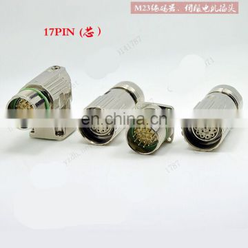 CALT M23 connector male or female plug for encoder