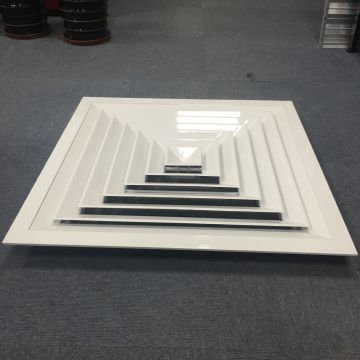Custom 4 Way Ceiling Square Air Diffuser Damper Available