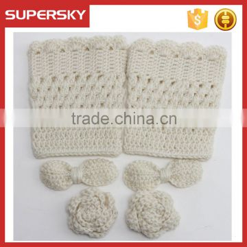 A-1269 crochet boot topper cuffs socks lady knitted cuff ankle boot women boot cuffs warmer