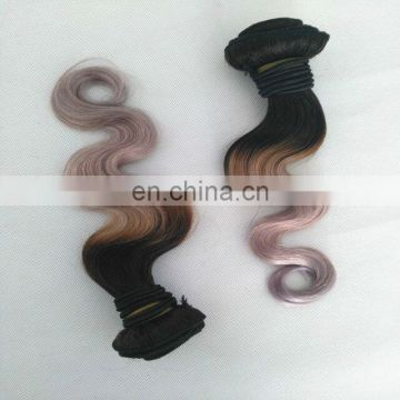 Hot Sales Best Quality Cheap Brazilian Human Virgin Hair Extension Ombre 1B Grey Hair Bundles Weave