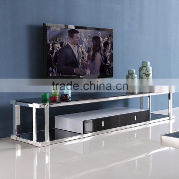 Stainless Steel Furniture Glass Tv Stand Design