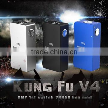 Alibaba china wholesale vaporizer pen Smy Kungfu v4 mech box Dual 26650 Switch custom mini box mod