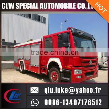 INOX high level 1000 gallons tank fire fighting truck for sale
