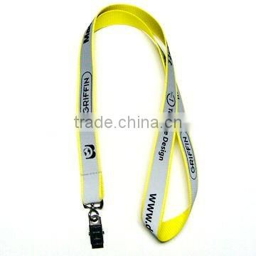 1C printing reflected lanyard with plastic buckle
