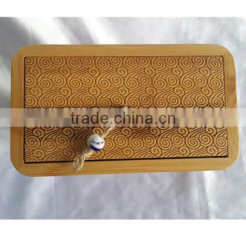 Small size top quality Natural Bamboo box with drawer for pet cremation