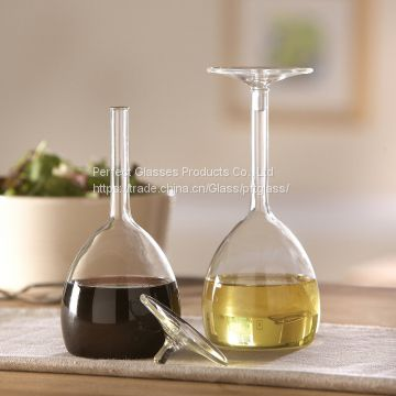 Glass oil bottle kitchen oil jar wholesale oil storage bottle Eco-friendly oil bottle fashion shape bottle glass cruet