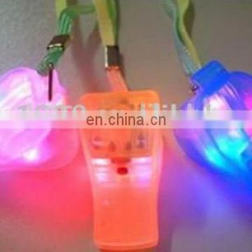 novel toy multifunctional whistle with led flash light for promotional items school/party/sports used
