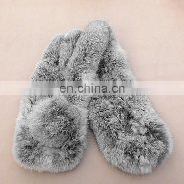 Winter women fashion fur neck warmer luxury warm fur scarf for lady