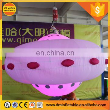 2017 Hot sale inflatable UFO, inflatable flying saucer for advertising
