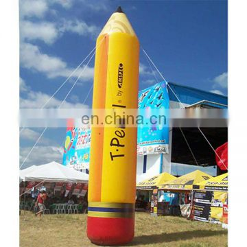 Attractive Oxford cloth inflatable pencil replica with fan for event advertising