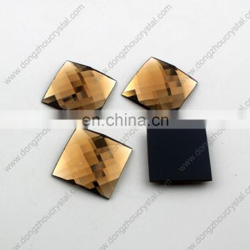 DZ-1038 colorful crystal flat back pendant stones for jewelry making