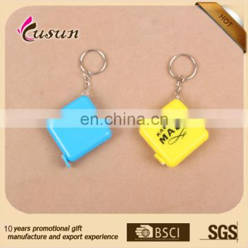 customize logo printed wholesale keychain tape measure