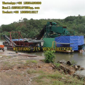 Sand Dredging Machine Good Performance 100 Ton Bucket Chain Gold Dredger