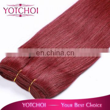 8A Grade Top Selling Unprocessed Human Hair Weaving wholesale price RED color fascinating Russian hair