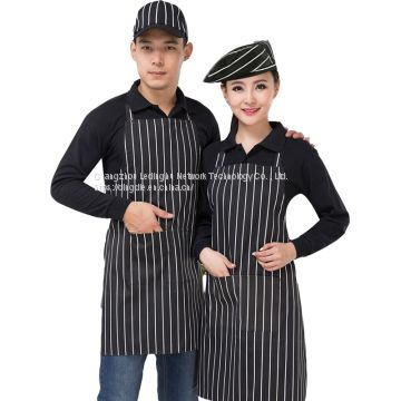 Fashion canvas apron custom logo printing milk tea coffee flower shop baking hot pot shop men and women overalls