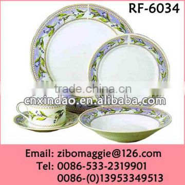 Professional Hot Sale Flower Designed Personalized Ceramic Teaware for Tableware