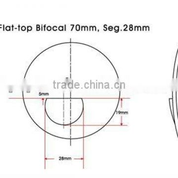 70/28 1.49 flat top bifocal hmc lenses(CE,FACTORY)