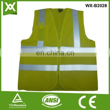 factory /suppliers polyester made selling design zipper hi viz vest
