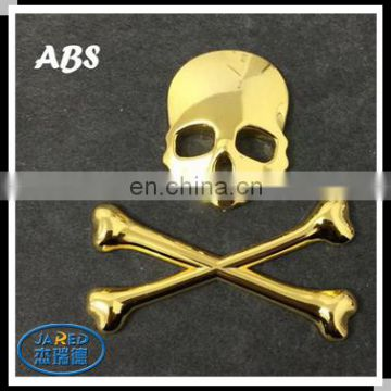 3D Skull Metal Car Motorcycle Sticker Label Skull Emblem Badge