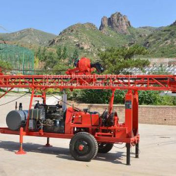 300m trailer mounted rotary drilling rig